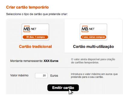 Criar cartão virtual MBNet